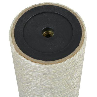 vidaXL Klöspelare för katt 8x25 cm 10 mm beige