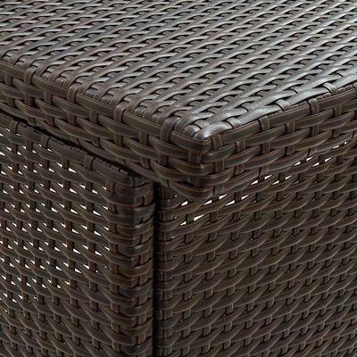 vidaXL Bargrupp 3 delar konstrotting brun