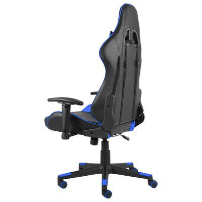 vidaXL Snurrbar gamingstol blå PVC
