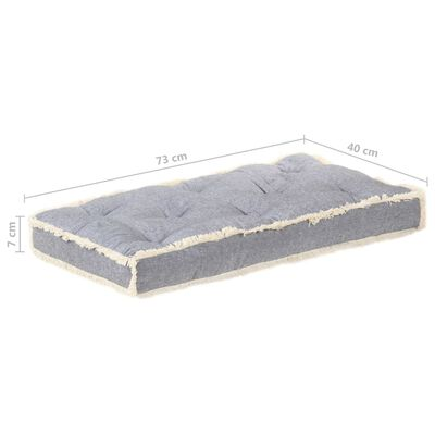 vidaXL Dyna till pallsoffa antracit 120x40x7 cm
