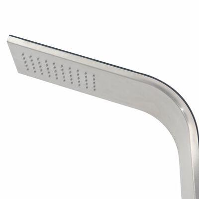 vidaXL Utedusch rostfritt stål böjd