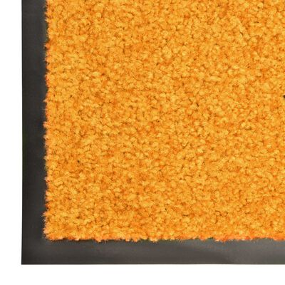 vidaXL Dörrmatta tvättbar orange 60x90 cm
