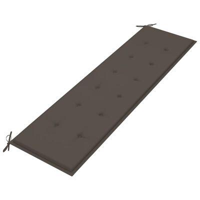 vidaXL Dyna för trädgårdsbänk taupe 180x50x4 cm