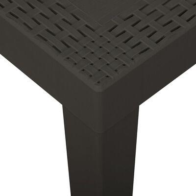 vidaXL Trädgårdsbord antracit 79x65x72 cm plast