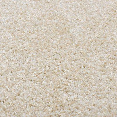 vidaXL Shaggy matta 160 cm beige