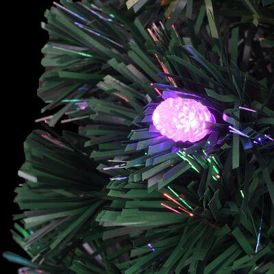 vidaXL Plastgran med fot och LED 150 cm fiberoptik