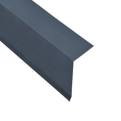 vidaXL Ståndskiva L-profil 5 st aluminium antracit 170cm