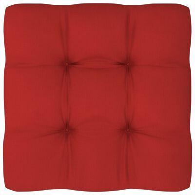 vidaXL Dyna till pallsoffa röd 80x80x12 cm