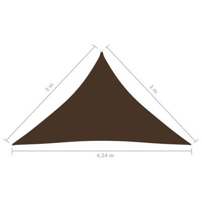 vidaXL Solsegel oxfordtyg trekantigt 3x3x4,24 m brun