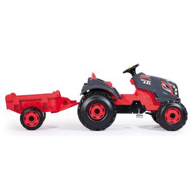 Smoby Traktor och släpvagn Stronger XXL röd och svart