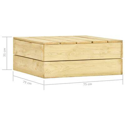 vidaXL Trädgårdsbord 75x75x31 cm impregnerad furu