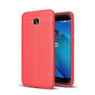 Läder mönstrat TPU skal Asus Zenfone 4 Selfie Pro (ZD552KL) Röd
