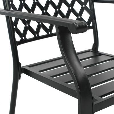 vidaXL Matgrupp för trädgården 5 delar stål svart