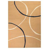 vidaXL Modern matta cirkeldesign 160x230 cm brun