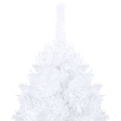 vidaXL Plastgran med tjocka grenar vit 120 cm PVC