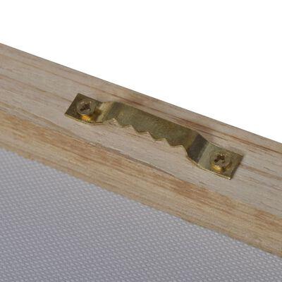 Uppsättning väggbonader på duk: sandstrand med hängmatta 100 x 50 cm