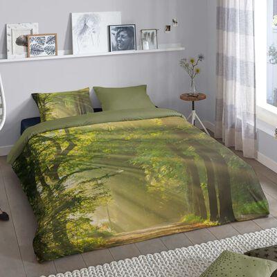 Good Morning Bäddset WOODS 135x200 cm grön