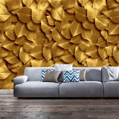 Fototapet - Golden Leaves - 100x70 Cm