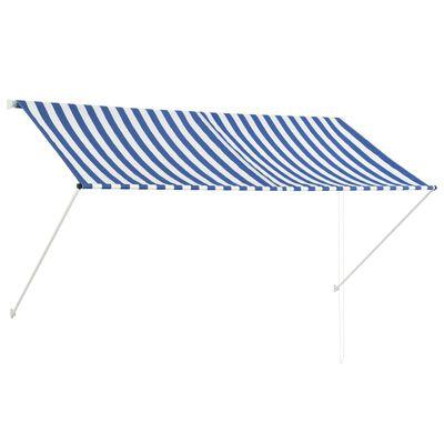 vidaXL Markis 250x150 cm blå och vit