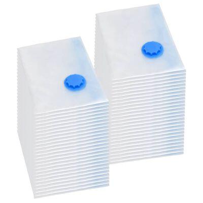 vidaXL Vakuumpåsar till kläder 120x70 cm 50 st
