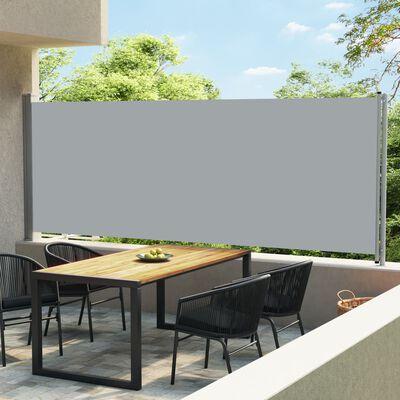vidaXL Infällbar sidomarkis 600x170 cm grå