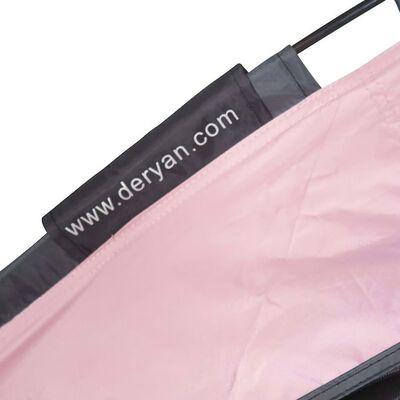 DERYAN Sängtält med myggnät 200x90x110 cm rosa