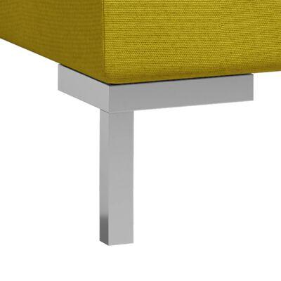 vidaXL Mittensits till modulsoffa 2 st med dynor tyg gul