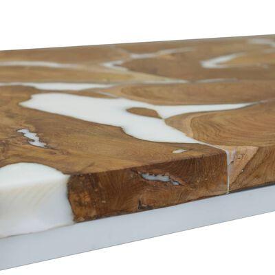 vidaXL Soffbord teak och harts 110x60x40 cm