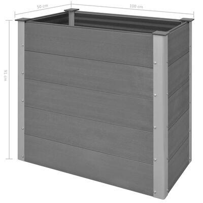vidaXL Odlingslåda upphöjd WPC 100x50x91 cm grå