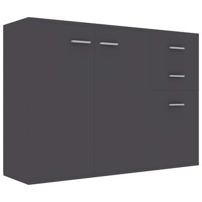 vidaXL Skänk grå 105x30x75 cm spånskiva