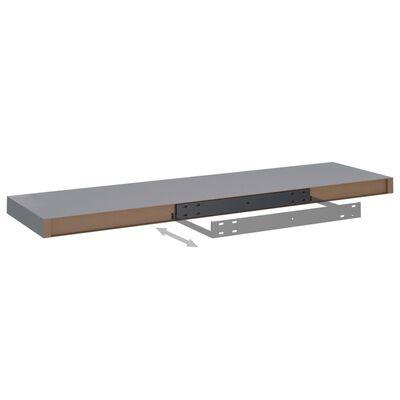 vidaXL Svävande vägghylla grå 90x23,5x3,8 cm MDF