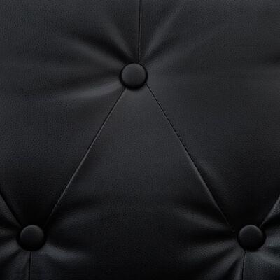 vidaXL Chesterfieldsoffa 3-sits konstläderklädsel svart