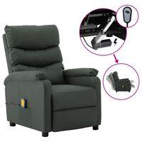 vidaXL Elektrisk massagefåtölj grå konstläder