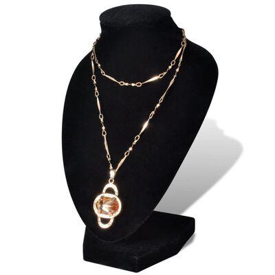 Smyckeshållare 9x8,5x15 cm flanell MDF svart 4-pack