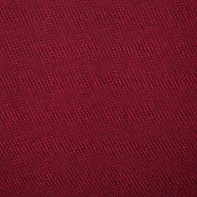 vidaXL 2-sitssoffa tyg vinröd