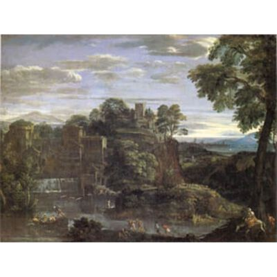 Landscape with the Flight into Egypt,Domenichino,50x40cm