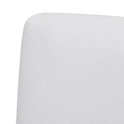 vidaXL Fribärande matstolar 4 st vit konstläder
