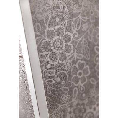 Grosfillex Väggplattor Gx Wall+ 5 st cement blommönster 45x90cm grå