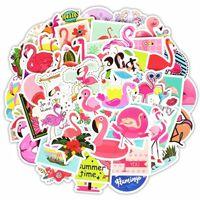 Klistermärken, 50 pack - Flamingo