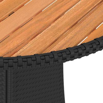 vidaXL Soffgrupp för trädgården med dynor 9 delar konstrotting svart