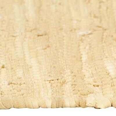 vidaXL Bordstabletter 6 st chindi beige 30x45 cm bomull
