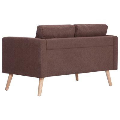 vidaXL 2-sitssoffa tyg brun