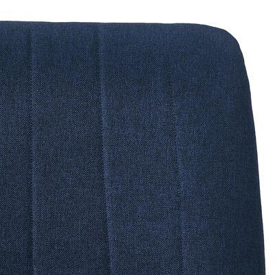 vidaXL Matstolar 6 st blå tyg, Blå