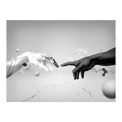 Fototapet - Intergalactic Touch - 200x154 Cm