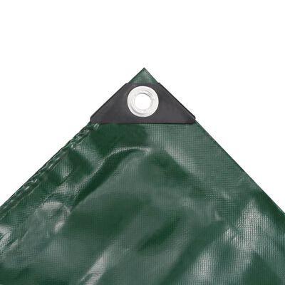 vidaXL Presenning 650 g/m² 4x8 m grön