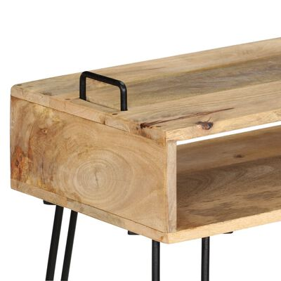 vidaXL Avlastningsbord mangoträ 115x35x76 cm