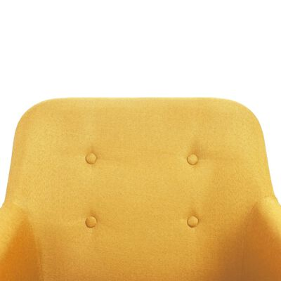 vidaXL Matstolar 4 st gul tyg och massiv ek