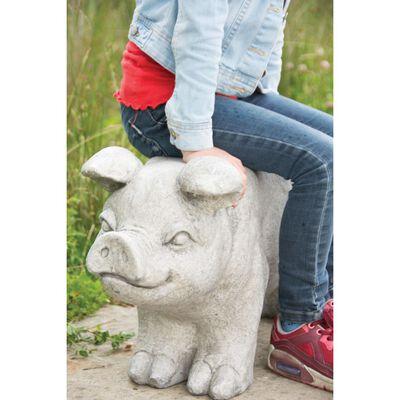 Esschert Design Trädgårdsbänk i sten gris grå AV13
