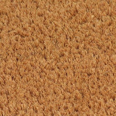 vidaXL Dörrmatta kokosfiber 17 mm 100x300 cm naturlig