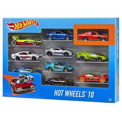 Hot Wheels Formgjutna leksaksbilar 10 st 1:64 54886